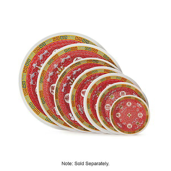 "Get M-417-L 14""Round Party Plate, Melamine, Dynasty Longevity"