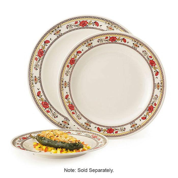"GET M-418-CG 16"" Round Dinner Plate, Melamine, White"