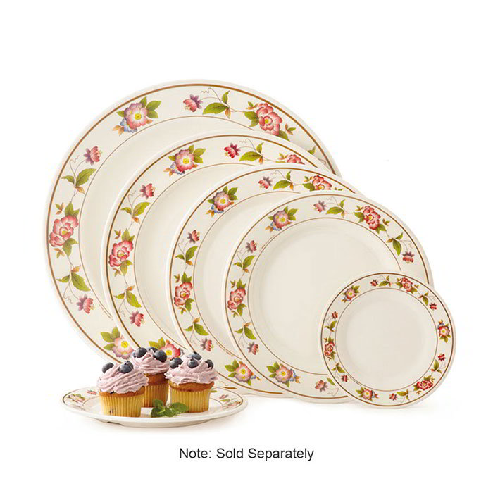 "GET M-5050-TR 8""Lunch Plate, Melamine, Dynasty Tea Rose"