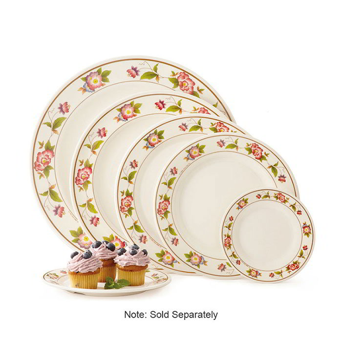 "GET M-5080-TR 9-1/2""Dinner Plate, Melamine, Dynasty Tea Rose"