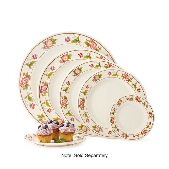 "GET M-5090-TR 10""Dinner Plate, Melamine, Dynasty Tea Rose"