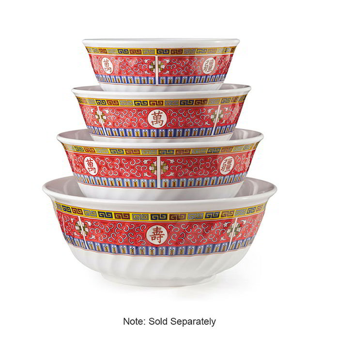 GET M-606-L 24-oz Round Bowl w/ Fluted-Edges, Melamine, 6x2.5