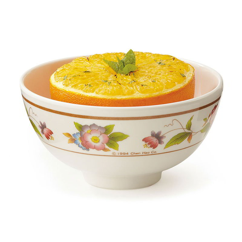 "GET M-768-TR 9-oz Rice/Vegetable Bowl, 4-1/2""Melamine, Dynasty Tea Rose"