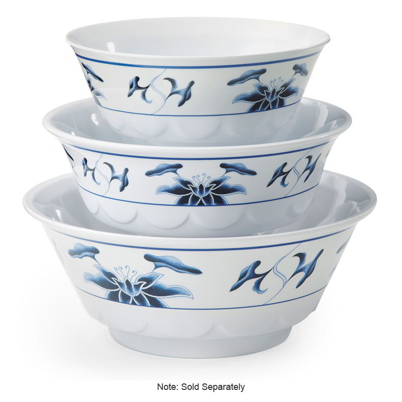 "GET M-812-B 52-oz Bowl, 8-3/4"" Melamine, Dynasty Water Lily"