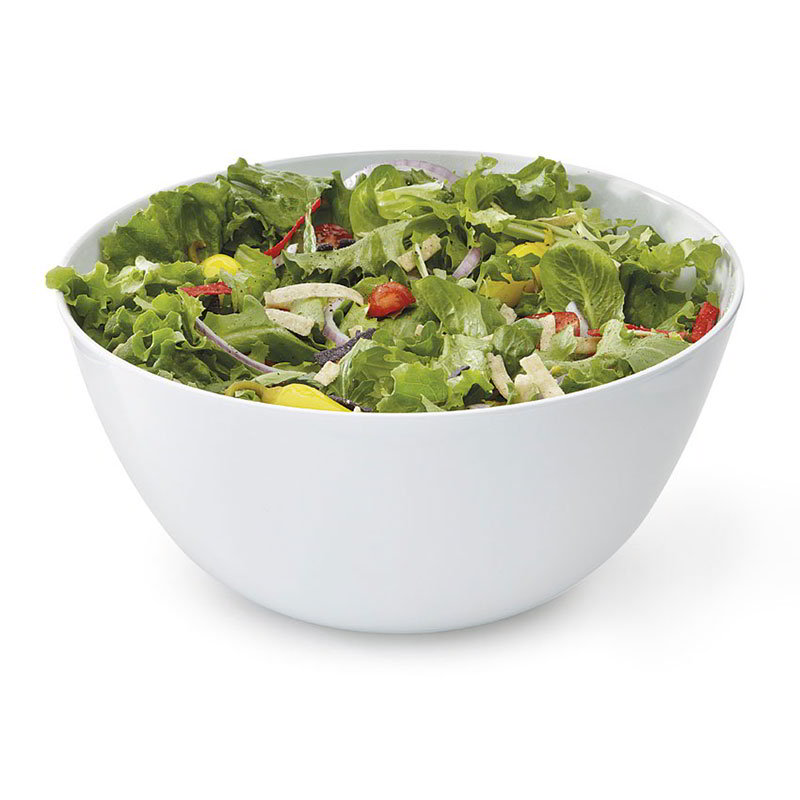"GET M-815-W 10.75"" Melamine Serving Bowl w/ 5-qt Capacity, White"
