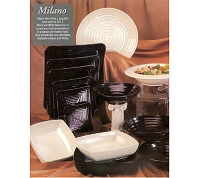 G.E.T ML-85-BK 12 in x 12 in Square Bowl Melamine Black Restaurant Supply