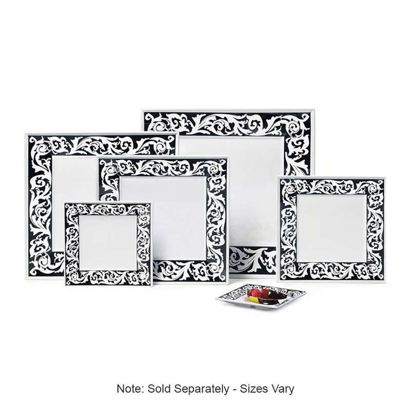 "GET ML-104-SO 10i n x 10""Plate, Square, Melamine, Soho"
