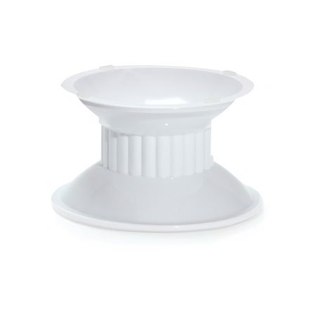 "GET ML-106-W 6.9""x 6.3""Pedestal, 4""High, Melamine, White"