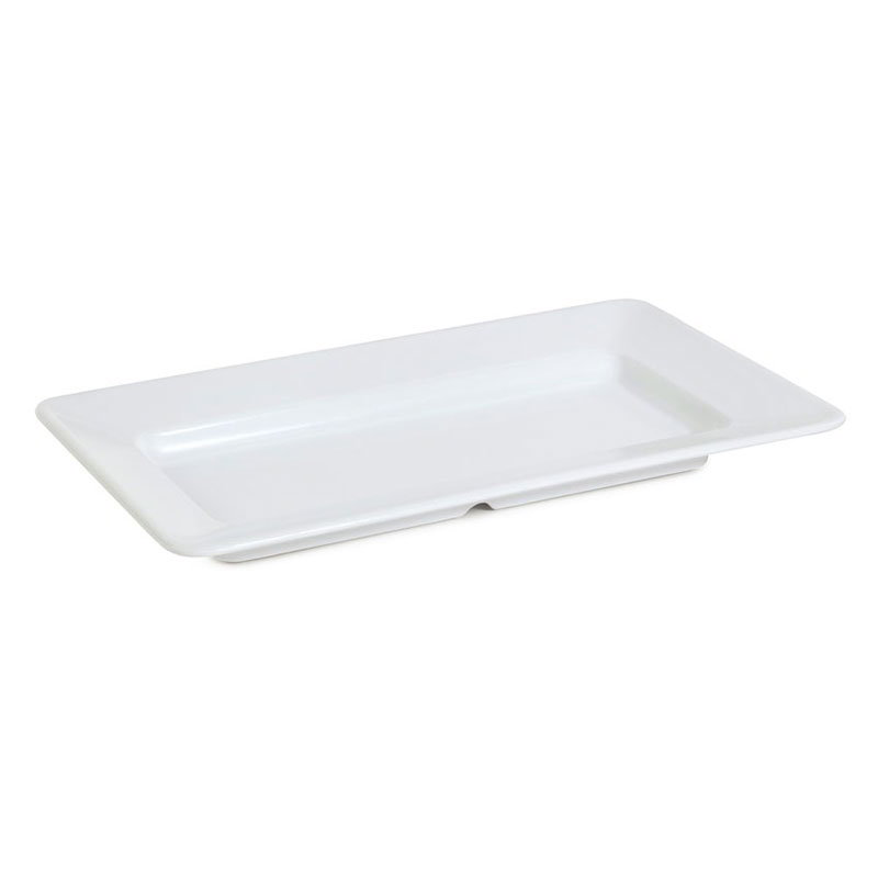 "GET ML-10-W 15""x 8""Plate, Square, Melamine, White"