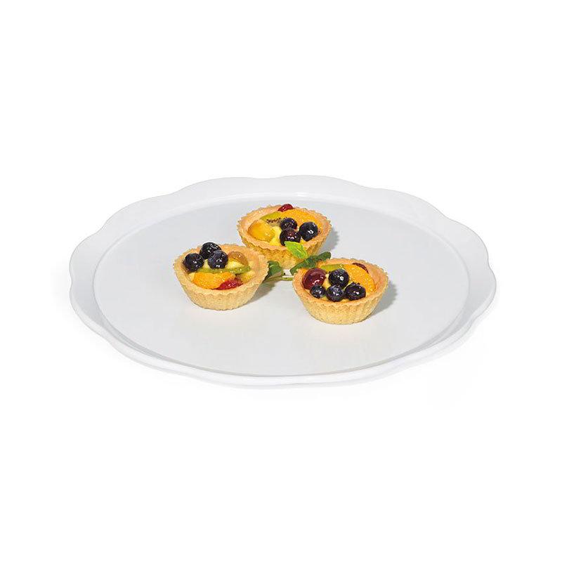 """GET ML-114-W 11-5/8""""Cake Plate, Round, Melamine, White"""