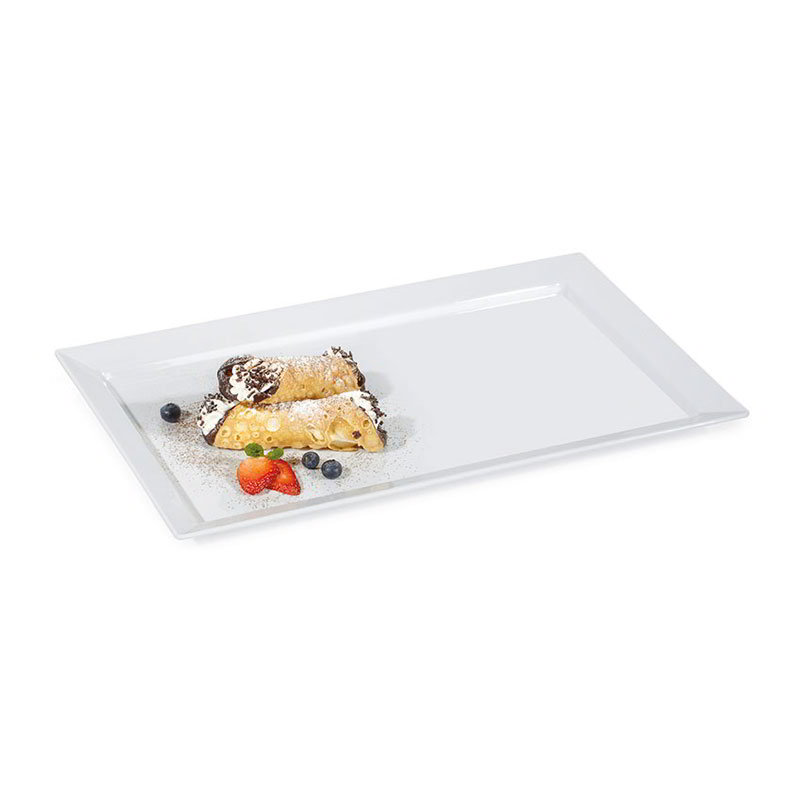"GET ML-116-W 17-3/4""x 10-3/4""Display Tray, Melamine, White"
