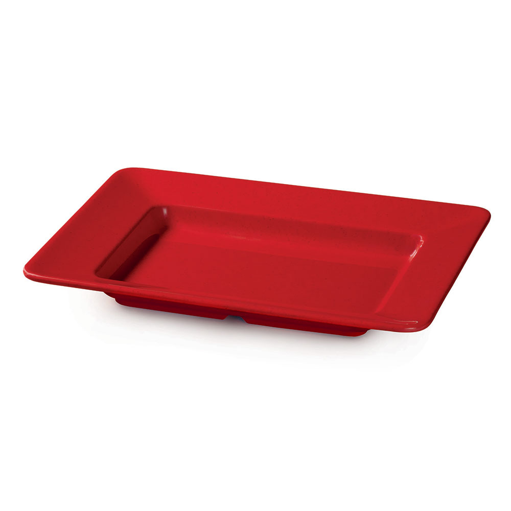 "GET ML-11-RSP 12""x 10""Plate, Rectangular, Melamine, Red Sensation"