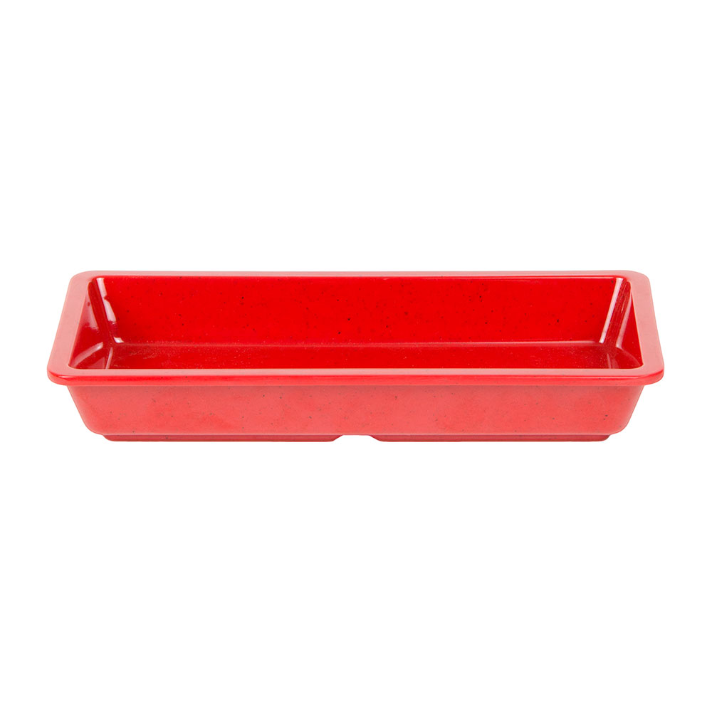 "GET ML-121-RSP 16-oz Plate, 9-1/4""x 4-5/8, Square, Melamine, Red Sensation"