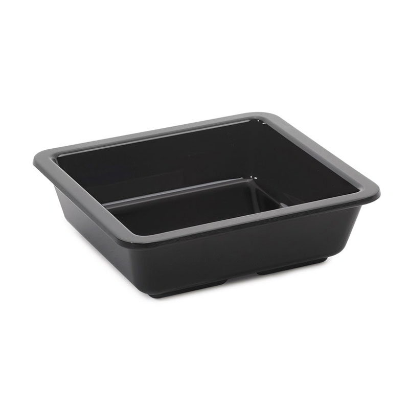 GET ML-122-BK 6-oz Side Dish, Square, Melamine, Black