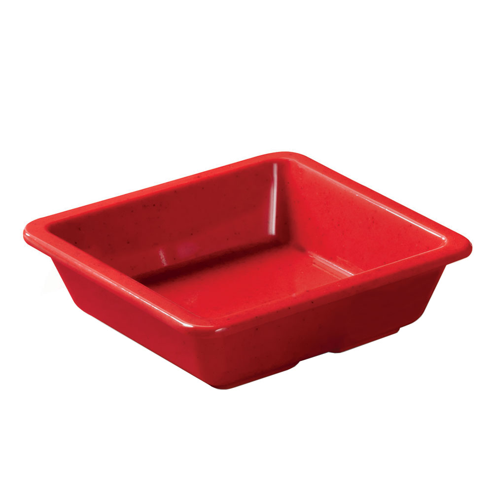 GET ML-122-RSP 6-oz Side Dish, Square, Melamine, Red Sensation