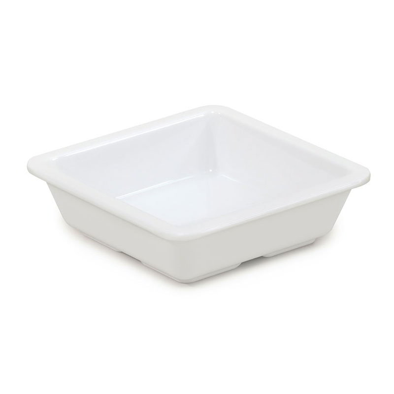 GET ML-122-W 6-oz Side Dish, Square, Melamine, White