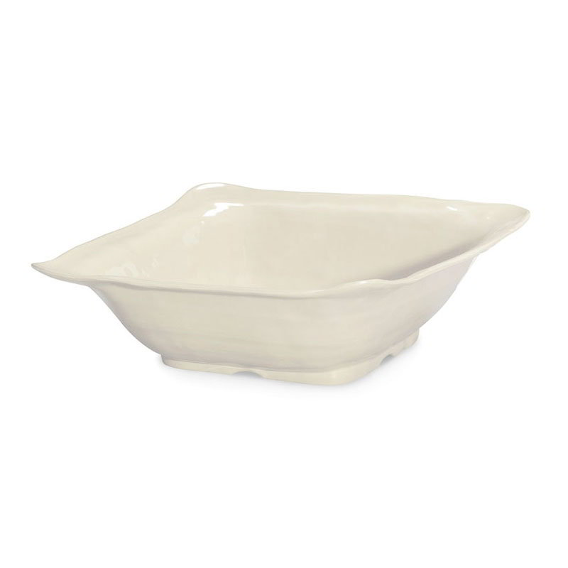 "GET ML-131-IV 13""Square Bowl, Ivory, Melamine, New Yorker"