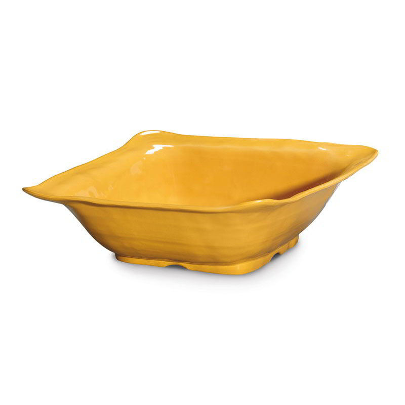 "GET ML-131-TY 13""Square Bowl, Tropical Yellow, Melamine, New Yorker"