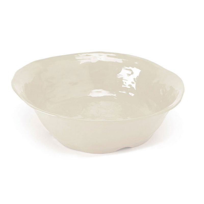"GET ML-133-IV 14"" Round Serving Bowl w/ 4.25-qt Capacity, Melamine, Ivory"