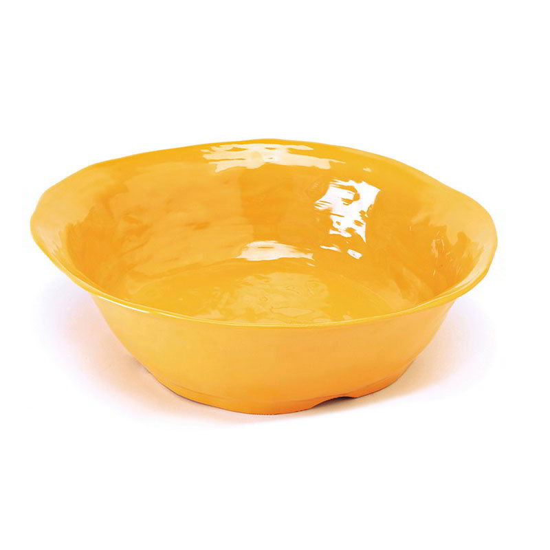 "GET ML-134-TY 16""x 4-1/4""Round Bowl, Tropical Yellow, Melamine, New Yorker"