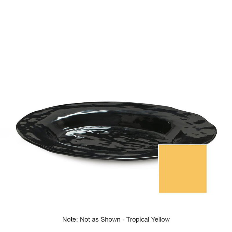 "GET ML-137-TY 17-3/4""x 13""Oval Platter, Melamine, Tropical Yellow, New Yorker"