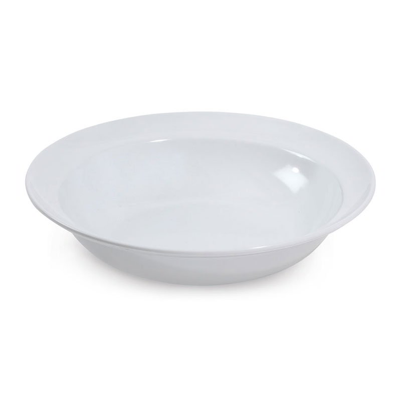 GET ML-13-W 3-qt Milano Bowl w/ Rubber Feet, Melamine, White