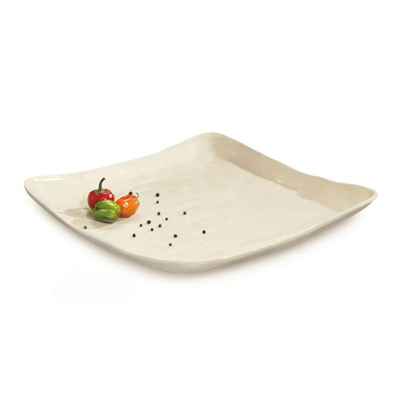 "GET ML-143-IV 16""Square Plate, Ivory, Melamine, New Yorker"