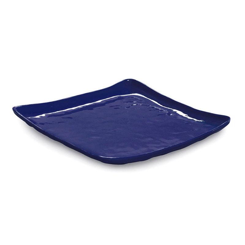 "GET ML-147-CB 13-3/4""Square Plate, Cobalt Blue, Melamine, New Yorker"