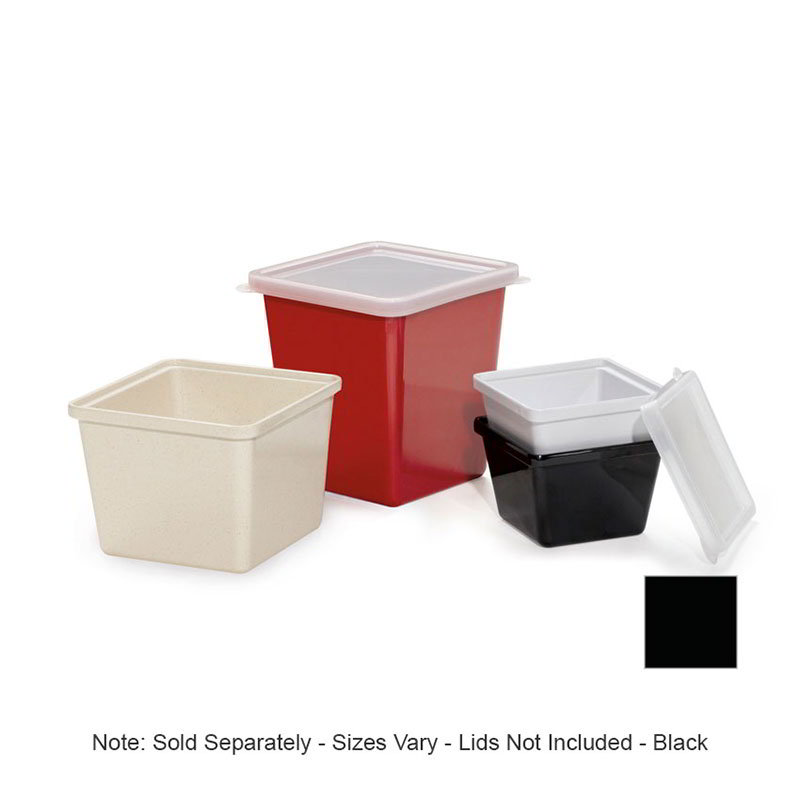 GET ML-149-BK 2 qt Salad Crock, Square, Melamine, Black