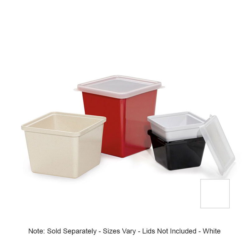 GET ML-149-W 2 qt Salad Crock, Square, Melamine, White
