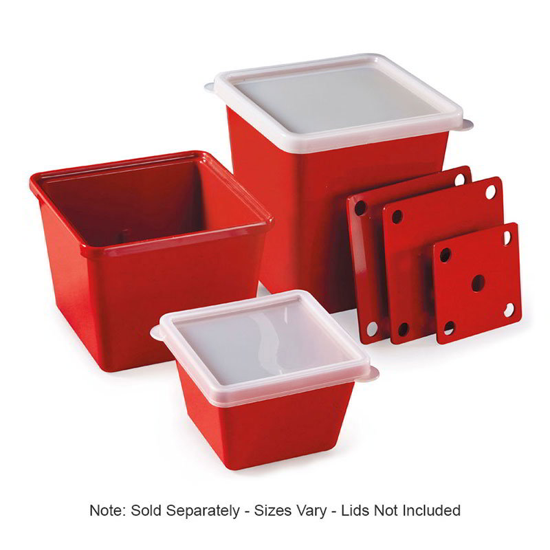 GET ML-150-RSP 3 qt Salad Crock, Square, Melamine, Red