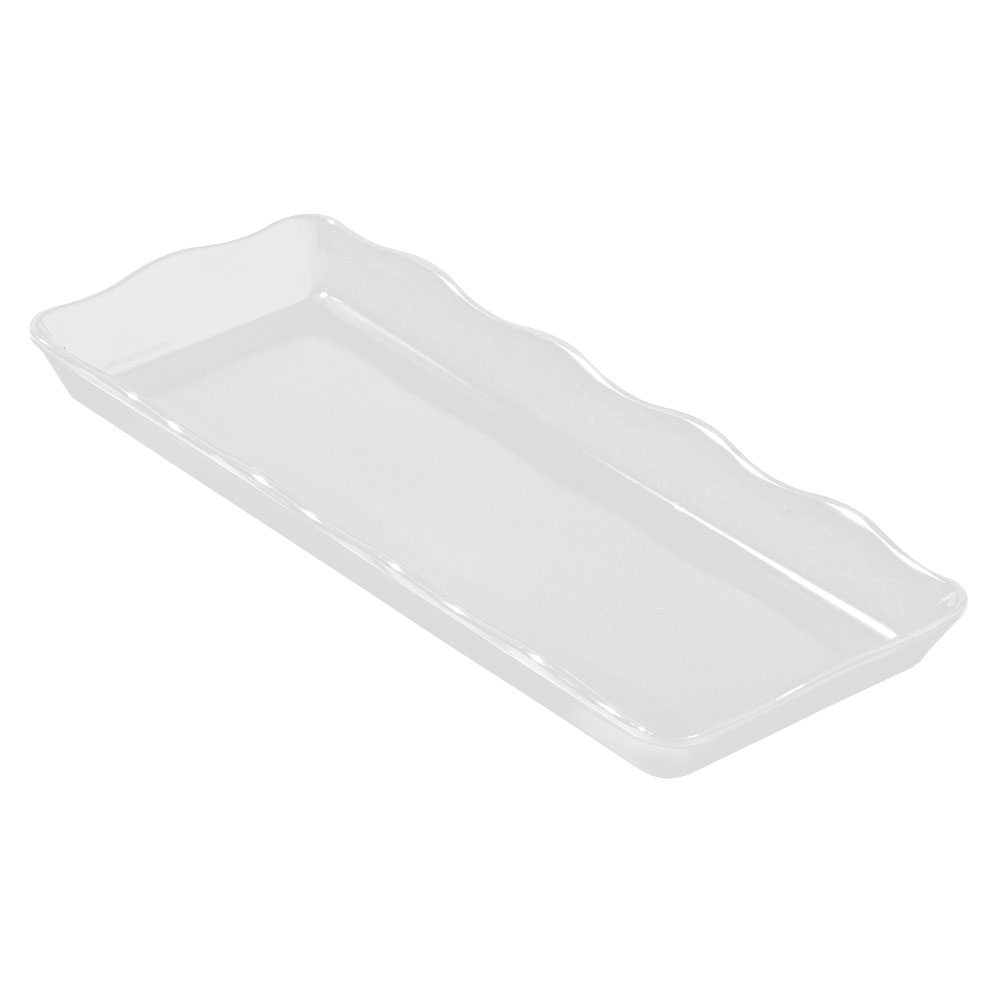 "GET ML-154-W 14 x 5.5 x 1.25"" Display Tray, Melamine, White"