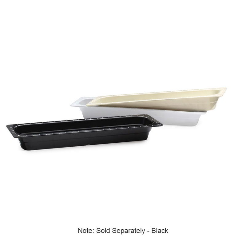 "GET ML-158-BK 1/2-Size Long Melamine Insert Pan, 2.5"" Deep, Black"
