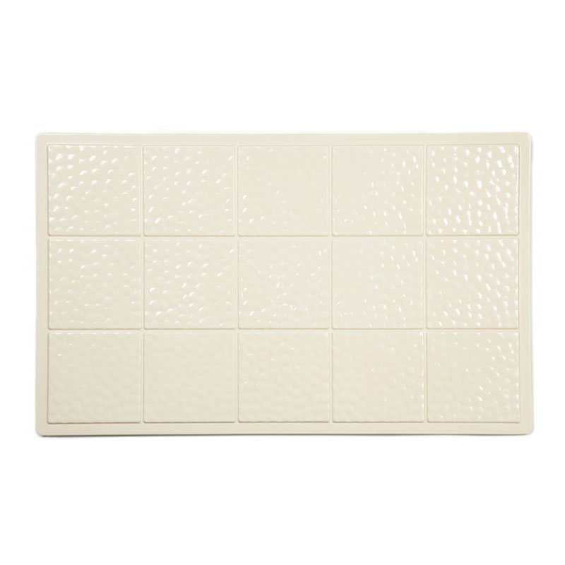 "GET ML-160-IV Tiles-Cut Outs, 21-1/2 x 13"" Full Size, Melamine, Dishwasher Safe, Ivory"