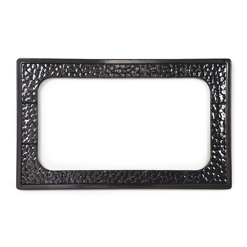 GET ML-163-BK Tiles-Cut Outs, Full Size w/ 1 Hole for ML-176, Melamine, Dishwasher Safe, Black