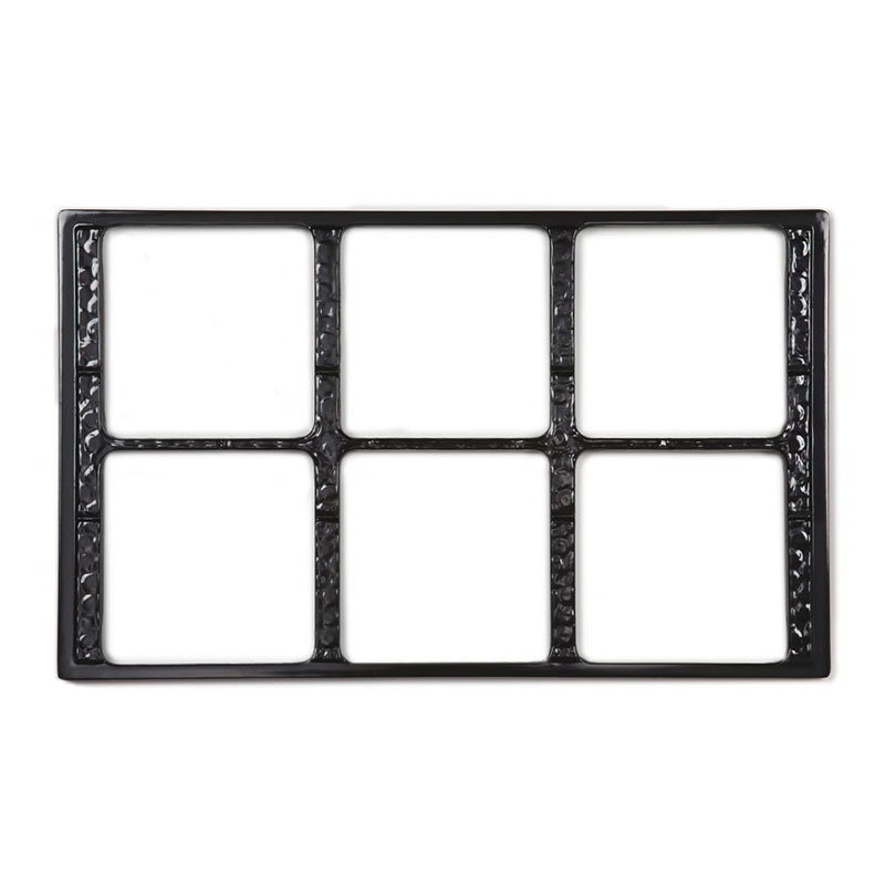 GET ML-168-BK Tiles-Cut Outs, w/ 6 Holes for ML-149, Square Crocks, Mel, Plastic Dishwash Safe, Black