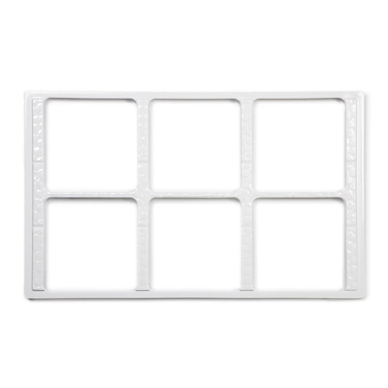 GET ML-168-W Tiles-Cut Outs, w/ 6 Holes for ML-149, Square Crocks, Mel, Plastic Dishwash Safe, White