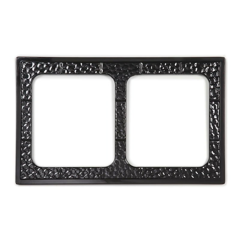 GET ML-169-BK Tiles-Cut Outs, w/ 2 Holes for ML-177, Square Crocks, Mel, Plastic Dishwash Safe, Black