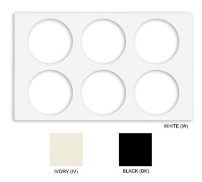 GET ML-171-W Tiles-Cut Outs, w/ 2 Holes for CR-0120, Square Crocks, Mel, Plastic Dishwash Safe, White