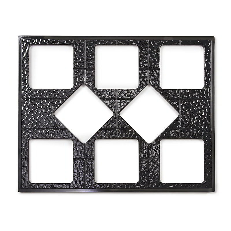 "GET ML-175-BK Tiles-Cut Outs, 27"" w/ 8 for ML-149, Square Crocks, Mel, Plastic Dishwash Safe, Black"