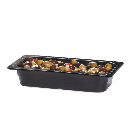 "GET ML-17-BK Food Pan, 1/3 Size, 2-1/2""Deep, Melamine, Black"