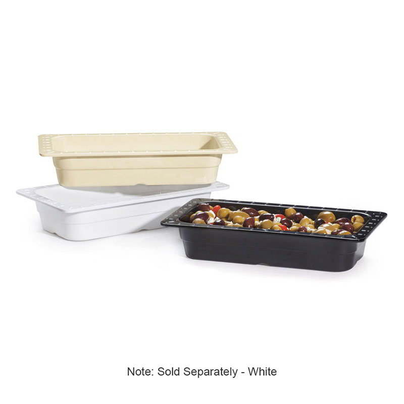 "GET ML-17-W Food Pan, 1/3 Size, 2-1/2""Deep, Melamine, White"