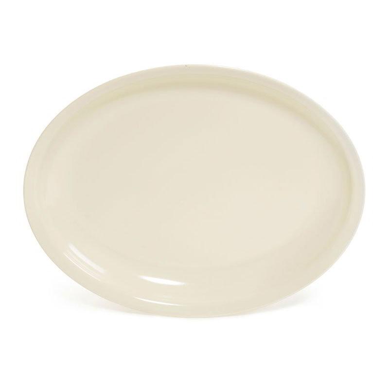 """GET ML-181-IV Milano Plastic Platter, 15 x 12, 1-3/4""""Deep, Oval, Mel, Dishwasher Safe, Ivory"""