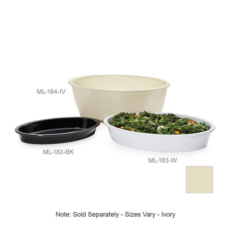 """GET ML-183-IV Milano Casserole Plastic Dish, 4-1/2 qt, 16 x 10 x 3""""Deep,  Mel, Plastic Dishwash Safe, Ivory"""
