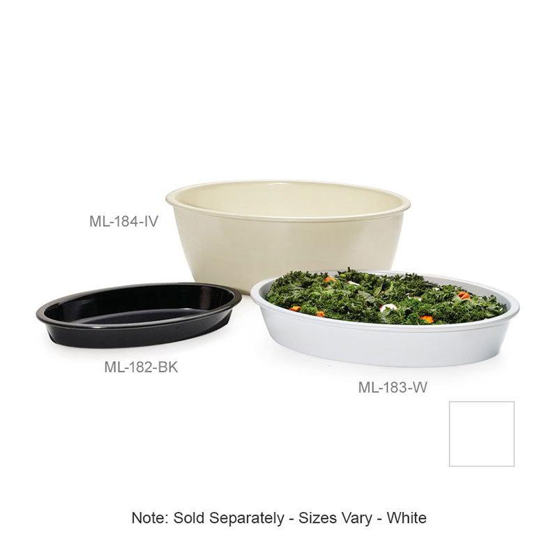 """GET ML-184-W Milano Casserole Plastic Dish, 9 qt, 16 x 10 x 6""""Deep,  Mel, Plastic Dishwash Safe, White"""