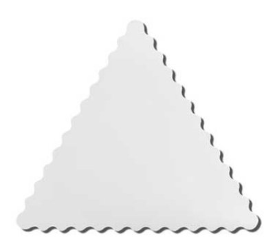 "GET ML-187-W Modern Edge, 18-1/2"" Triangle, Melamine, Dishwasher Safe, White"
