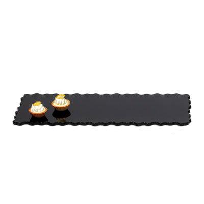 "GET ML-188-BK Modern Edge, Rectangular Display Tray, 23-3/4 x 9-1/2"" 5"" Deep, Black"