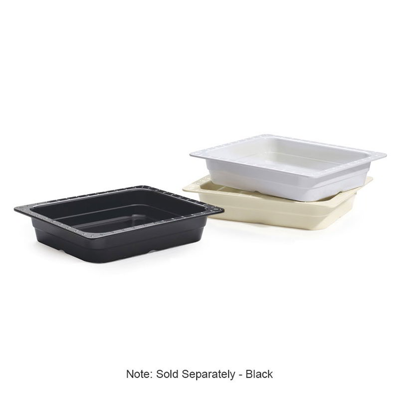 "GET ML-18-BK Food Pan, 1/2 Size, 2-1/2""Deep, Melamine, Black"