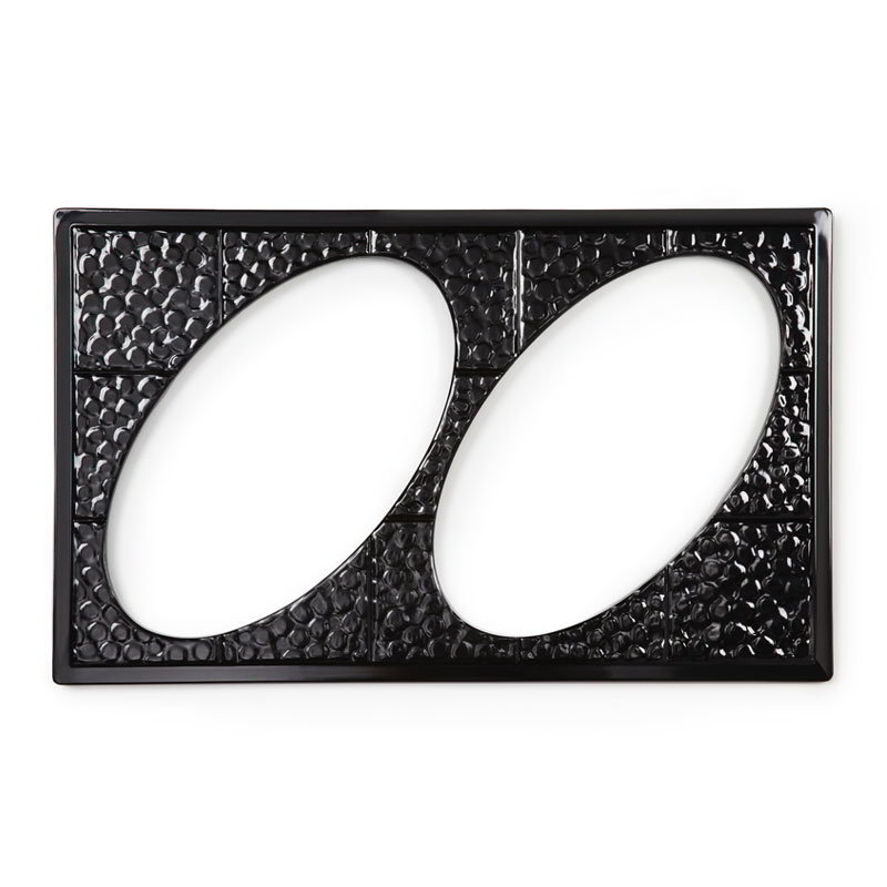 GET ML-191-BK Tiles-Cut Out, w/ 2 Holes for ML-182, Melamine, Dishwasher Safe, Black