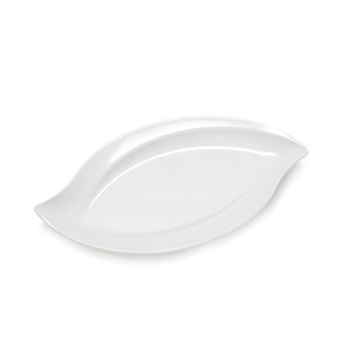 "GET ML-211-W San Michele Platter, 20 x 12"", Melamine, Dishwasher Safe, White"